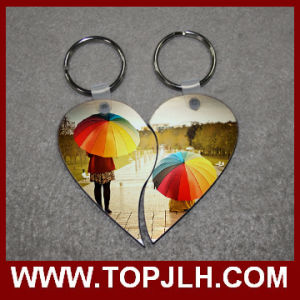 Briliant Photo Sublimation Couple Keyring MDF Wood Key Ring From China pictures & photos