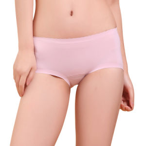 Anti-Bacterial Nylon Lace Seamless Underwear with Silver Fiber for Women pictures & photos