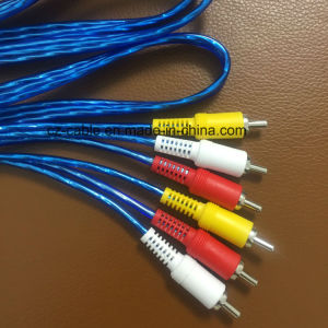 RCA Cable, 3RCA Plug to 3RCA Plug (3r-3r) Audio/AV/TV/RCA Cable pictures & photos
