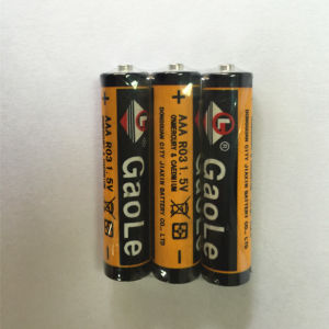 AAA Remote Control R03 Battery Um4 (3PCS pack) pictures & photos