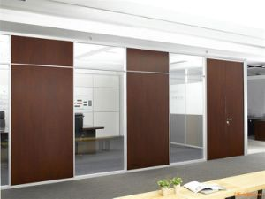 Modern Office Wooden Aluminum Glass Partition Wall (NS-NW025) pictures & photos