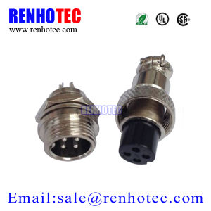 Aviation Connector M12 Male Female Plug Socket Gx12-4 Pin Connector pictures & photos