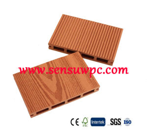 Sensu Wood Plastic Composite Outdoor WPC Decking Flooring with Hollow pictures & photos