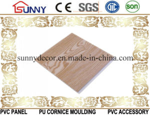 Printing Wooden Waterproof PVC Ceiling Panels Fireproof Decorative Wall Panel Cielo Raso De PVC pictures & photos