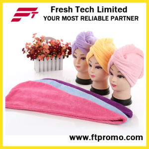 Promotional Hair Drying Microfiber Shower Cap with Logo pictures & photos