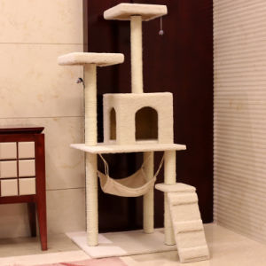 Sisal Pets Cat Climbing Frames Toys Interactive Shelves Cat Tree Interesting Soft Toys pictures & photos