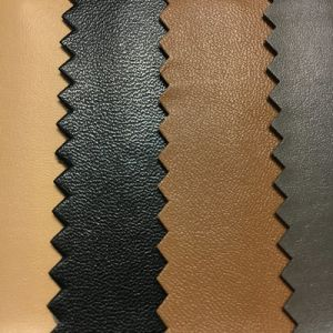 Cow Calf Buffalo Grain Lining Synthetic PU Leather for Shoes, Bags (HS-D18) pictures & photos