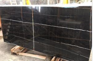 Italian Black Marble Golde Vein Marble pictures & photos