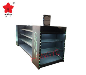 Lighted Box Style Cosmetic Island Supermarket Display Shelf (HY-A11) pictures & photos