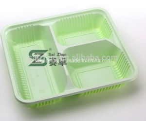 1200ml 3 Compartment Disposable Plastic Take Away Lunch Box pictures & photos