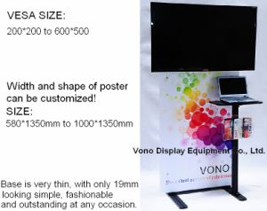 Exhibition TV Display Stand with Poster Holder pictures & photos