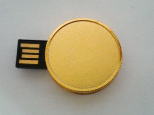 Factory Price High Quality Round Metal Gold Coin USB Flash Drive Bitcoin USB pictures & photos