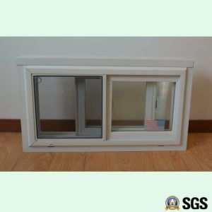 White Colour UPVC Profile Sliding Window with Mosquito Net, Sliding Window, UPVC Window, Window K02095 pictures & photos