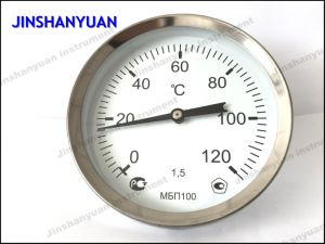 Bt-013 Hot Water Thermometer/Back Mount Thermometer /Sliding Connector Temperature Gauge pictures & photos