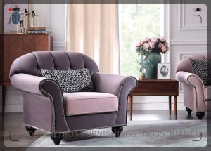 Wholesale Sofa Promotion Fabric Sofa S1707 pictures & photos