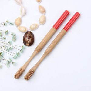 Environmental Bamboo Toothbrush with Bamboo Fiber Bristle pictures & photos