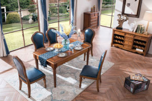 New Elegant Solid Wood American Country Style Dining Table and Chair (AD313) pictures & photos