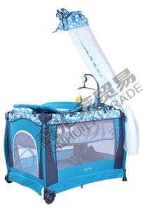 Baby Playpen with Luxury Mosquito Net Folding Baby Bed pictures & photos