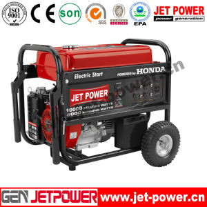 Electric Start 5kw 5.5kw Gasoline Generator with Battery and Wheels pictures & photos