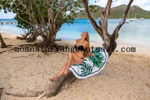 Microfiber Reactive Printed Round Circle Beach Towel with High-Quality pictures & photos