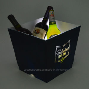 Wholesale Light up White LED Ice Bucket for Promotion Purpose pictures & photos