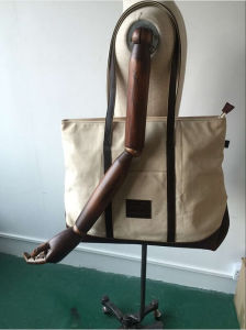 Customized high Quality Big Size Waxed Canvas Shouder Bag with Leather Straps pictures & photos