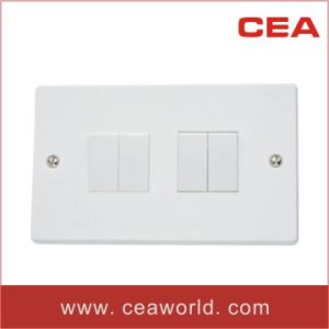 British (BS) / UK 13A 4 Gang 1 Way Wall Switches pictures & photos