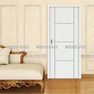 Waterproof Anti-Termite WPC Interior PVC Warpping Door (KM-04) pictures & photos