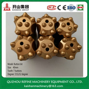 40mm 7 Ball-Tooth Tapered Bore Bit for Rock Drill pictures & photos