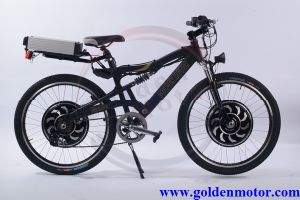 48V 1500W Dual-Drive Electronic Bicycle /7 Speed Mountain Bike/Electric Transportation Vehicle (SEB-350D) pictures & photos
