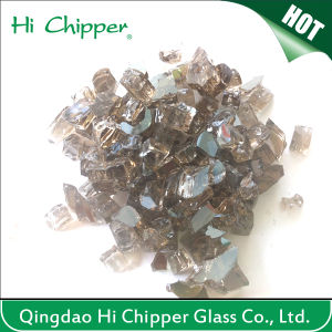 Grey Decorative Fire Pit Glass Chips pictures & photos