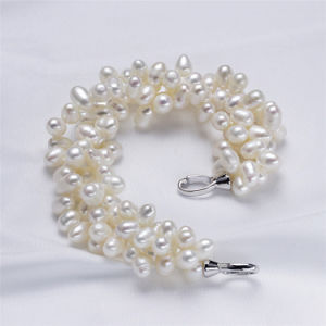 925 Sterling Silver Natural Pearl Bracelet for Sale pictures & photos