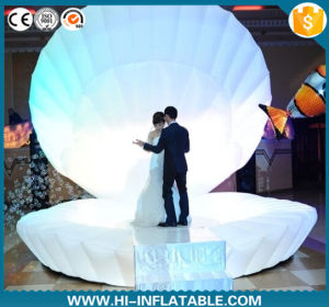 Romantic Creative Wedding Decoration Idea Used Opening Inflatable Shell