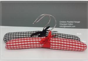 Grid Cotton Children Padded Hangers Kids Satin Hanger pictures & photos