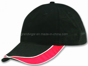 Blank Cotton Baseball Cap with Self Fabric Hook & Loop pictures & photos