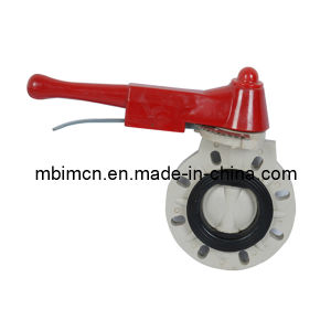 PVC/Pph Butterfly Valve with DIN/JIS/ANSI Flange pictures & photos