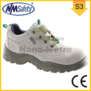Nmsafety High Quality Suede Leather Work Safety Shoes pictures & photos