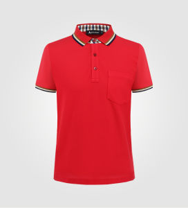 Custom You Own Fit with Rib Collar Pocket Men Polo T Shirt