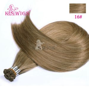 Double Drawn Indian Remy Hair Handtied Hair pictures & photos