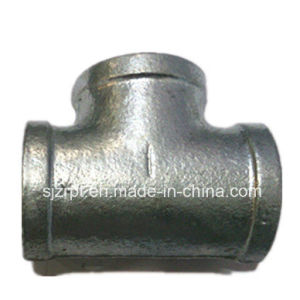 Equal Banded Galvanized Malleable Iron Pipe Fitting Tee pictures & photos