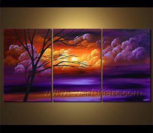 Hot Sale Framed Modern Landscape Oil Painting on Frame (LA3-150) pictures & photos