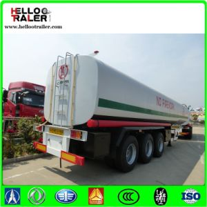 Cylindrical Shape 42cbm Fuel Tanker Trailer with 6mm Carbon Steel End Plate pictures & photos