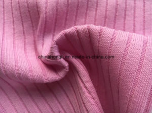 6*4 Rib, C/P 60/40, 240GSM, Solid Knitted Fabric for Lady′s Apparel pictures & photos
