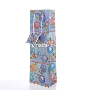 Colorful Christmas Single Bottle Wine Paper Bag pictures & photos