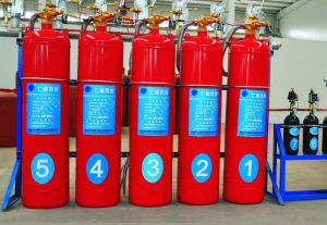 Fire Fighting Equipment Hfc-227ea Pipe Line Type FM200 Fire Extinguisher pictures & photos