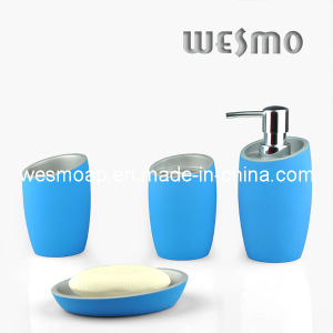 Soft Touch Polyresin Bathroom Set (WBP0325A) pictures & photos