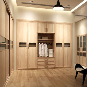 Oppein Modern Melamine Finish Wooden Wardrobe with Drawers (YG11204) pictures & photos
