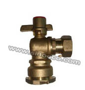 Brass Elbow Magnetic Lockable Angle Ball Valve pictures & photos