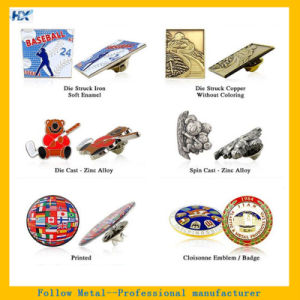 Die Cast Die Strike Metal Pin Metal Badge Offset Pin