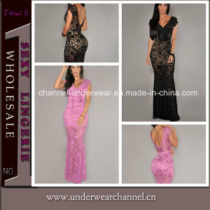 Fashion Lady Lace Maxi Dress Evening Cocktail Dress (T6676) pictures & photos